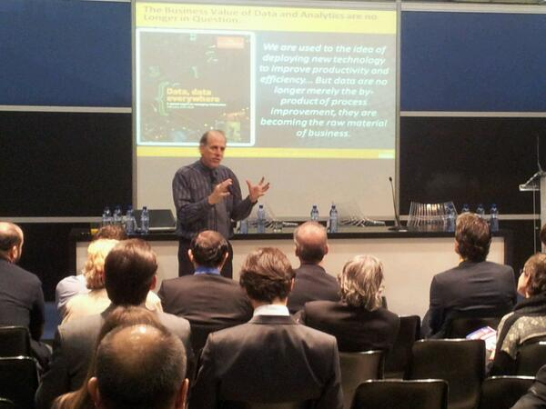 RT @CCFarre: Stephen Brobst, CTO Teradata, on the value of data. #BigData #SmartCityExpo http://t.co/yKWePD4h2p