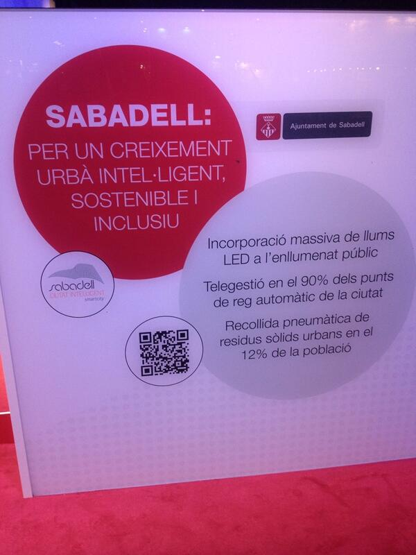 Mirin @ArcaldeSanchez @ArcaldeBustos Sabadell com a exemple d'Smart City #cebaomort #SmartCityExpo http://t.co/mBwJrB7h74