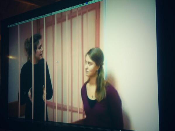 Anne Mie behind bars in court right now #FreeTheArctic30 http://t.co/lYrMxRypnx