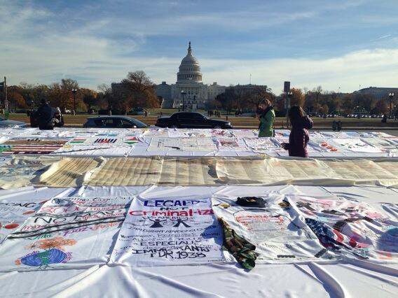 Quilt making at #Fast4Families #immigrationreform #thetimeisnow http://t.co/OE1Xi9ixnY