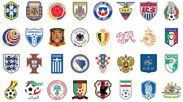 BZhsfA7CQAEYKLP The 32 teams who will compete at the 2014 World Cup finals have been decided [Graphics]