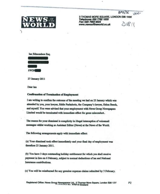 Robin brant on twitter p1 of notw letter to edmondson in robin brant on twitter p1 of notw letter to edmondson in 2011 explaining his dismissal for gross misconduct over complicity in hacking spiritdancerdesigns Image collections