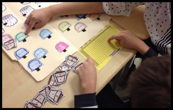 Using a multiplication matrix and file folder math games with special needs students #tvadmin #visiblelearn http://t.co/zqXF9Xjo9k
