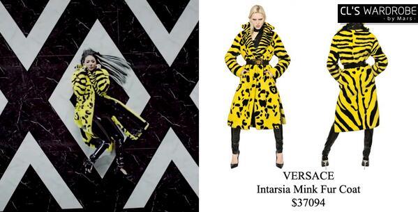 Image result for 2ne1 cl versace coat