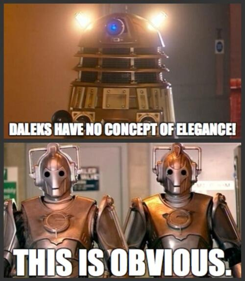 "The Cybermen on Twitter: ""Daleks have no concept of elegance http ..."