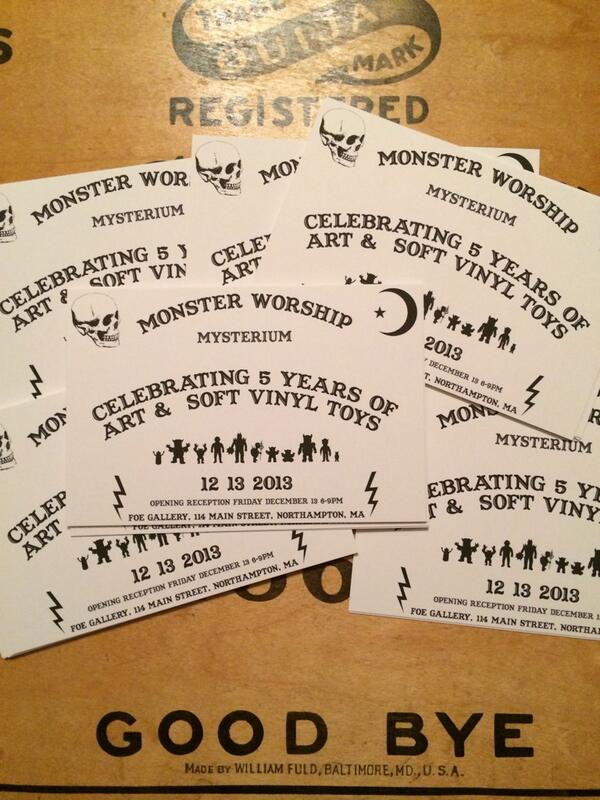 Monster Worship Mysterium opening Friday the 13th of Dec., FOE Gallery, Mass. #monsterworship #mysterium #foegallery