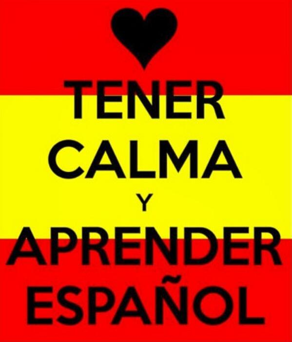 Image result for keep calm and learn spanish
