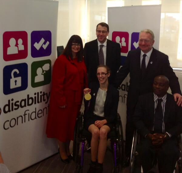 Great to meet @SChristiansen87, Mike Seventon @kpmguk, Mike Penning @DWPgovuk and @MarkEsho #disabilityconfident http://t.co/Qi5HkFkxxD