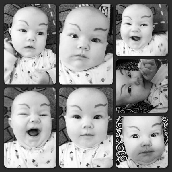 Dean Lopata On Twitter Drawing Eyebrows On Babies Cheers Me Up