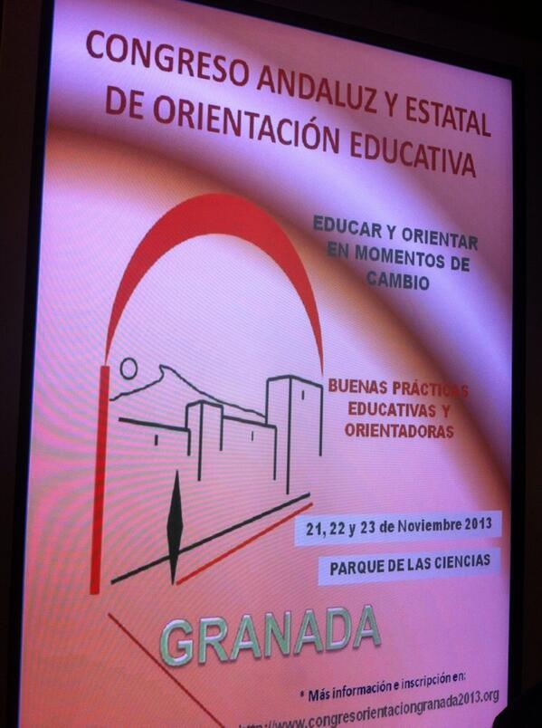 @ASOSGRA esta tarde los orientadores/as hemos disfrutando de lo lindo en Granada... http://t.co/s8MhKWxJoi