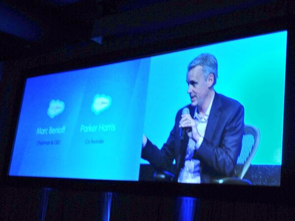 ".@Benioff ""Job #1 for @Salesforce1 was to build out the APIs""; @parkerharris ""Developers are #1!"" http://t.co/GZhVqcNmMW"