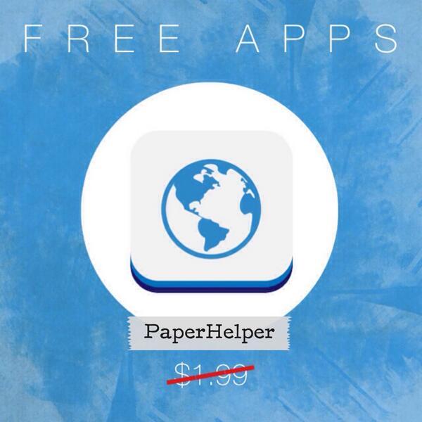 paperhelper hashtag on Twitter