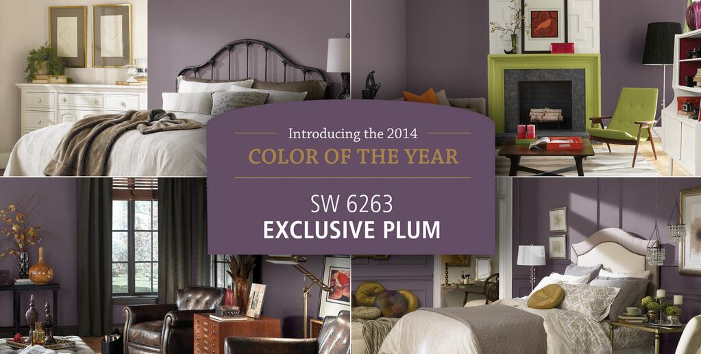 Sherwin williams favorite paint colors blog for Exclusive plum bedroom