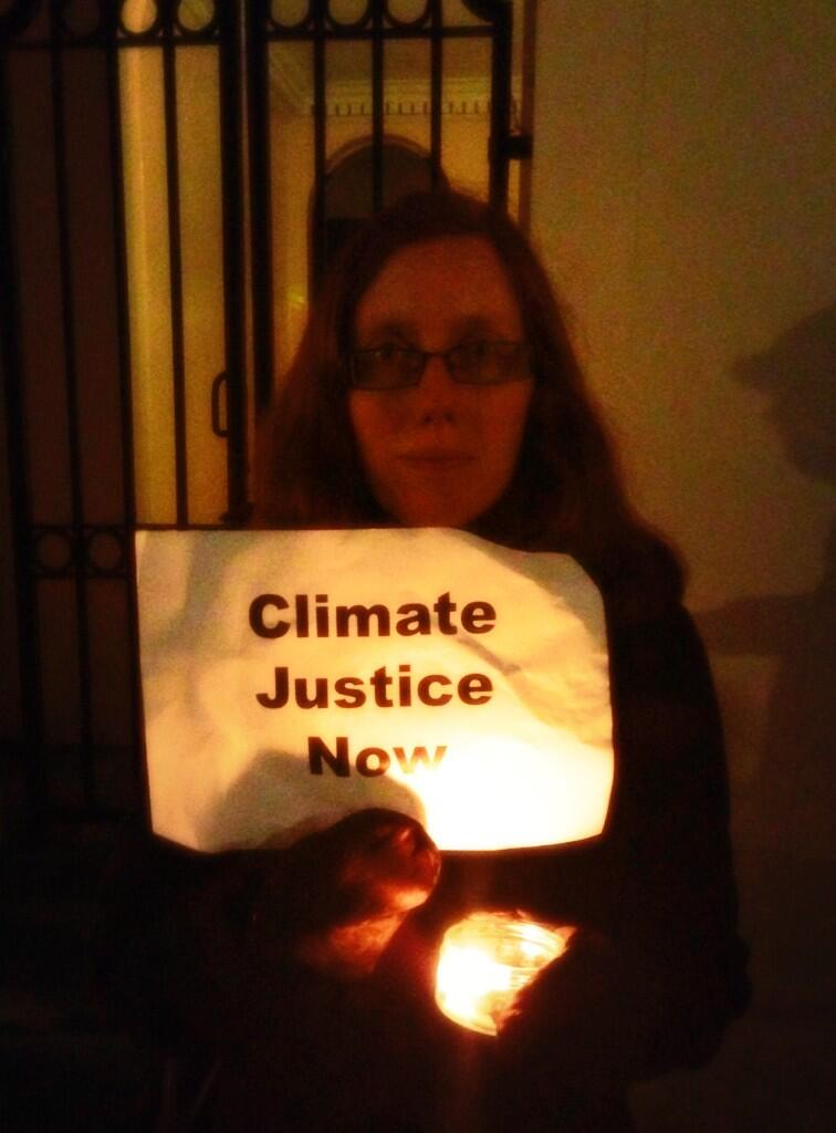 solidarity by candlelight at the Philippines Embassy, London, earlier this eve #WeStandWithYou #ClimateJusticeNow http://t.co/YQEQ5EOCIF