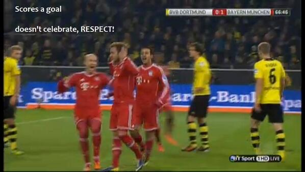 BZx0HxgCYAAiNlr Sub Mario Götze scored Bayerns opener against ex employer Borussia Dortmund, didnt celebrate