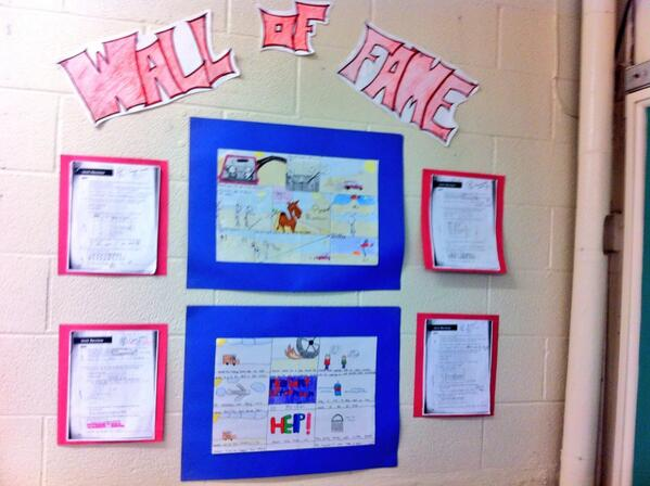 Wall of Fame in grade 7 class. #tvadmin #visiblelearn http://t.co/0uobih8PFI