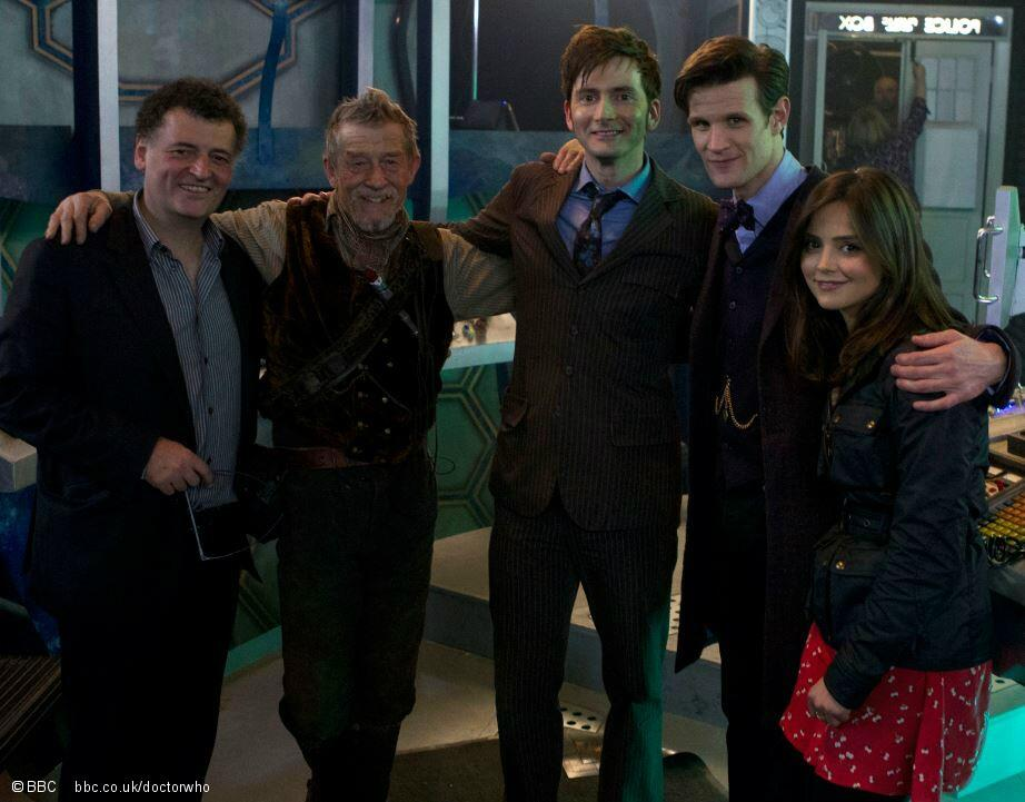 David Tennant on the set of The Day Of The Doctor
