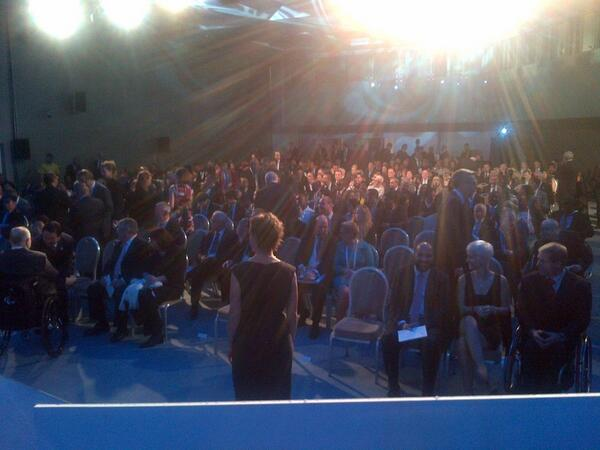 The view just before the start of the 2013 Paralympic Awards. #IPCGA2013 http://t.co/rsRu6fFdhj