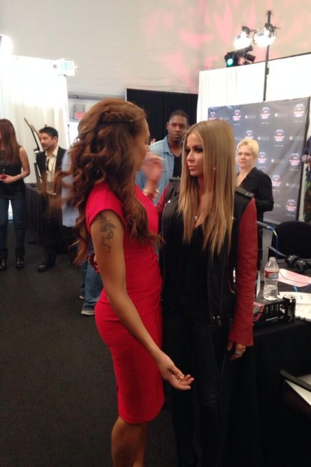 Catching up with my #friend @OfficialMelB at #AMAs #radio # tour #dancemusic #WERQ http://t.co/i7bG7