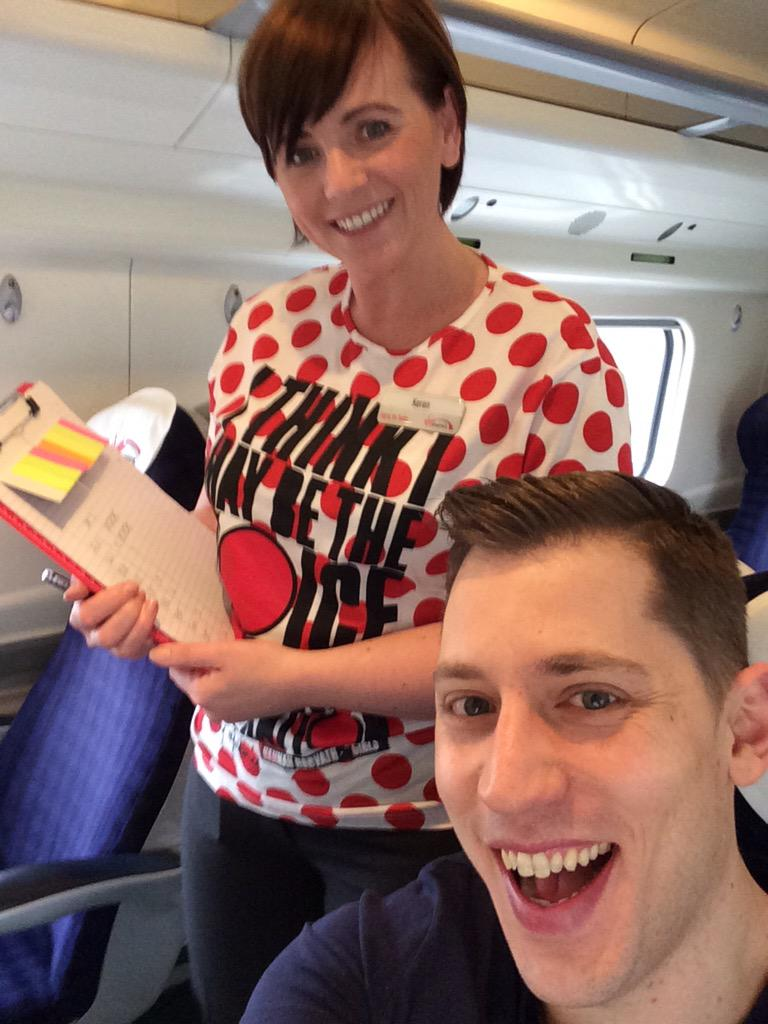 @VirginTrains so happy to see Karen on the 9:40 Manchester train with Red Nose t shirt. I think she deserves a RT.. http://t.co/4o1a7lCEw0