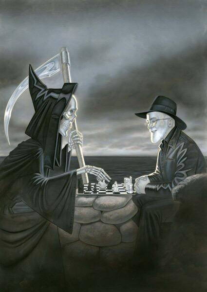 This was sent to me this morning, passing it on... Rest in every kind of peace #TerryPratchett http://t.co/MbERgO1K7o