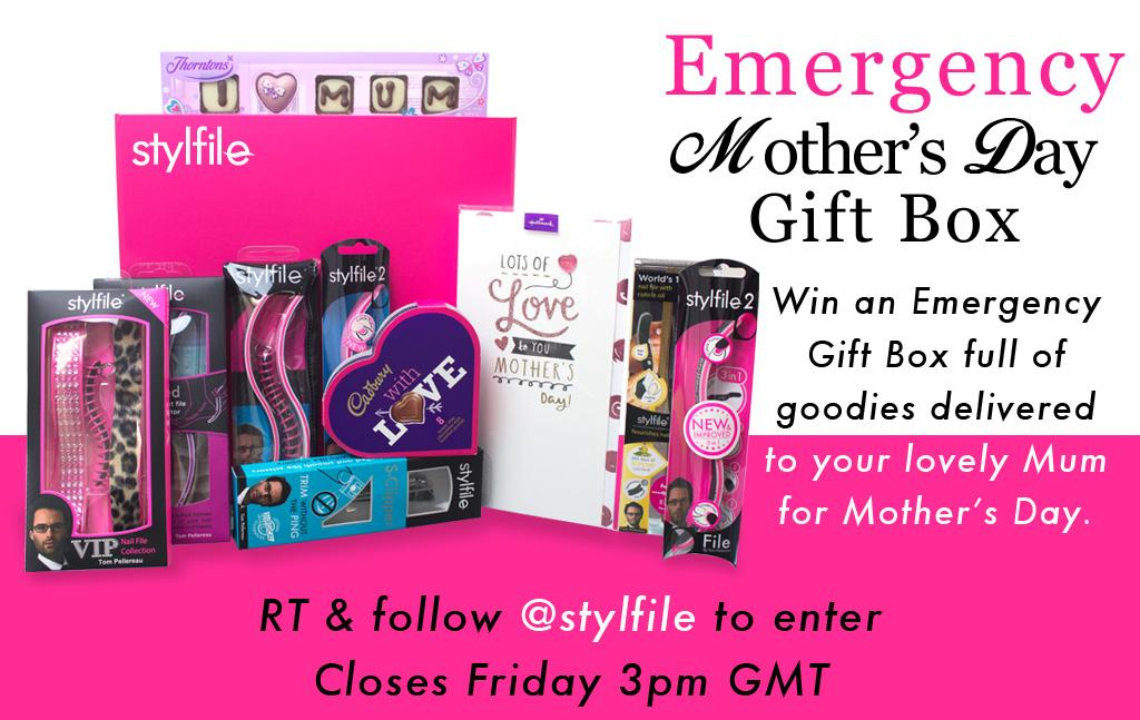 All you have to do is RT & Follow @stylfile to be in with a chance to win our Emergency Mother's Day offer... http://t.co/VWM1bpcdMz
