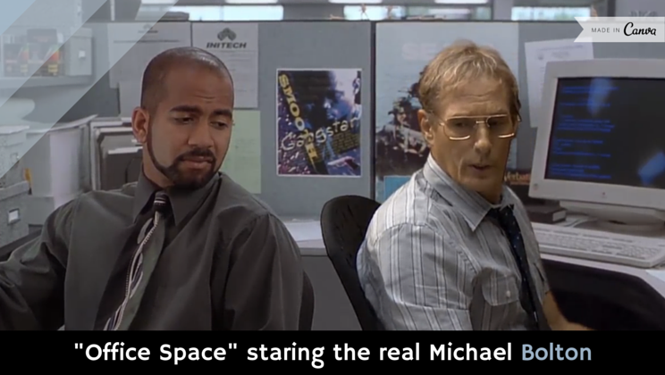 """Office Space"" staring the real Michael Bolton [video] http://t.co/C0LGWmgmF8 http://t.co/rEchnyNZM0"