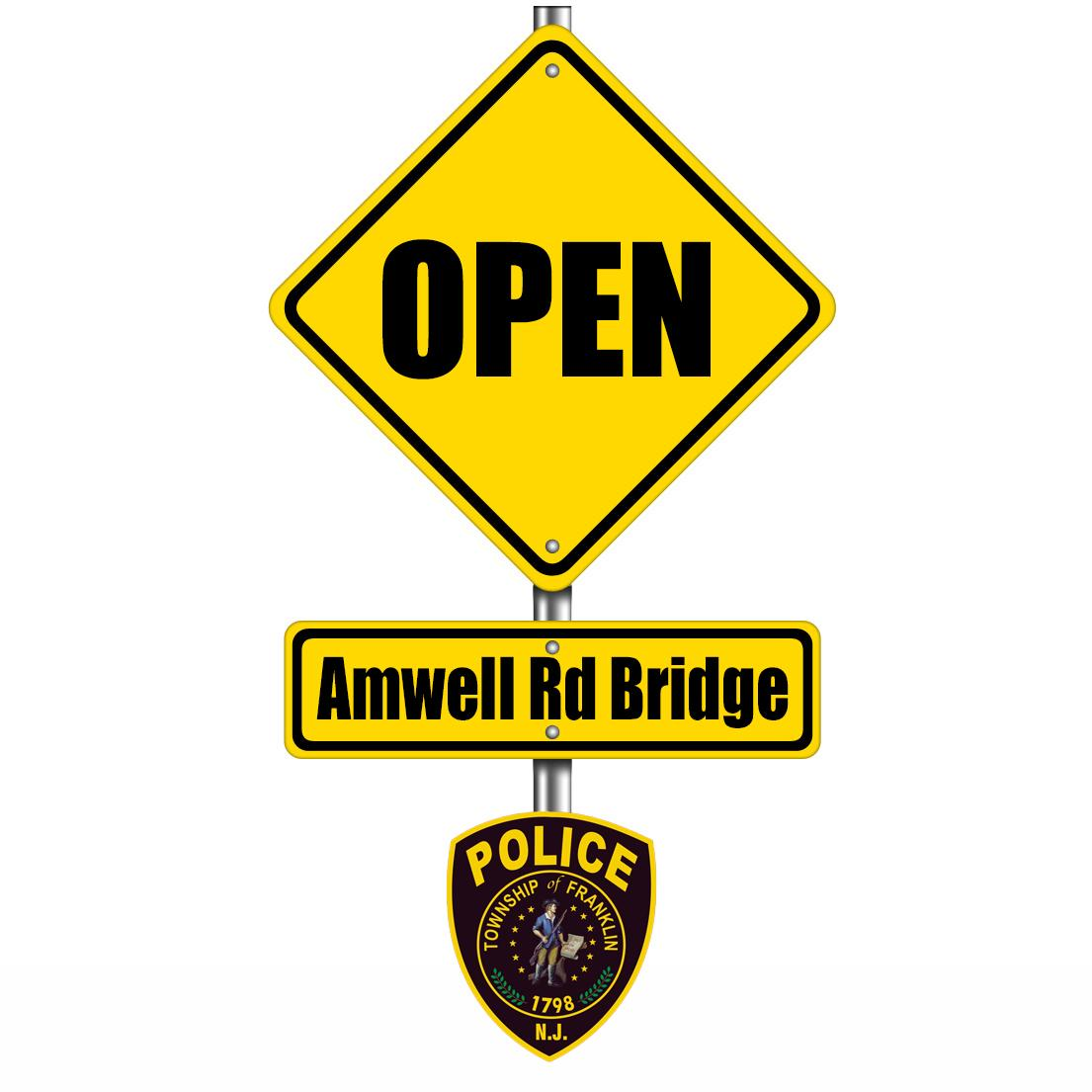 Franklin Twp Pd On Twitter The Bridge On Amwell Rd Is Open Http