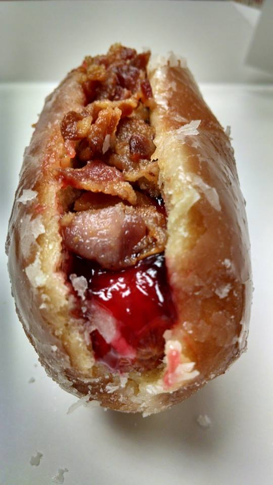 """""""Kremey Weenie"""" or """"Rocky's Sweet Meat"""" gets my vote for the new, one of a kind, @wilmbluerocks hot dog! http://t.co/YAuqGQuaiS"""
