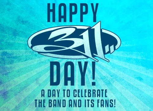 HAPPY 311 DAY! Truly grateful for our family of fans! Have a great 311 DAY, turn it up! You are loved! http://t.co/ljEuRRyrED