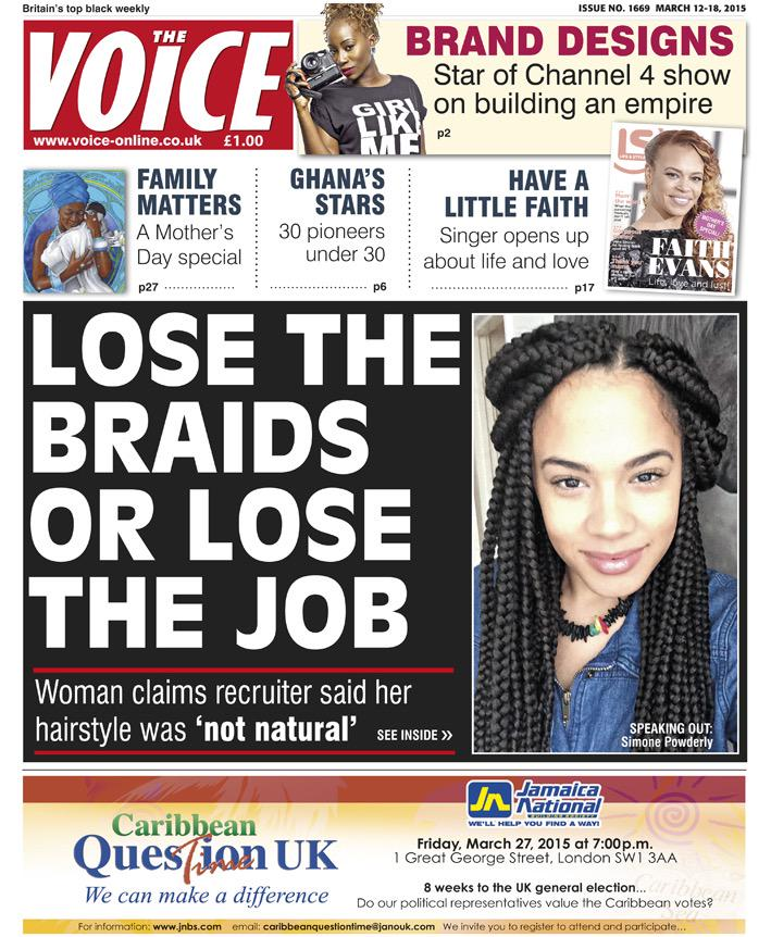 black voice newspaper Feature Stories.