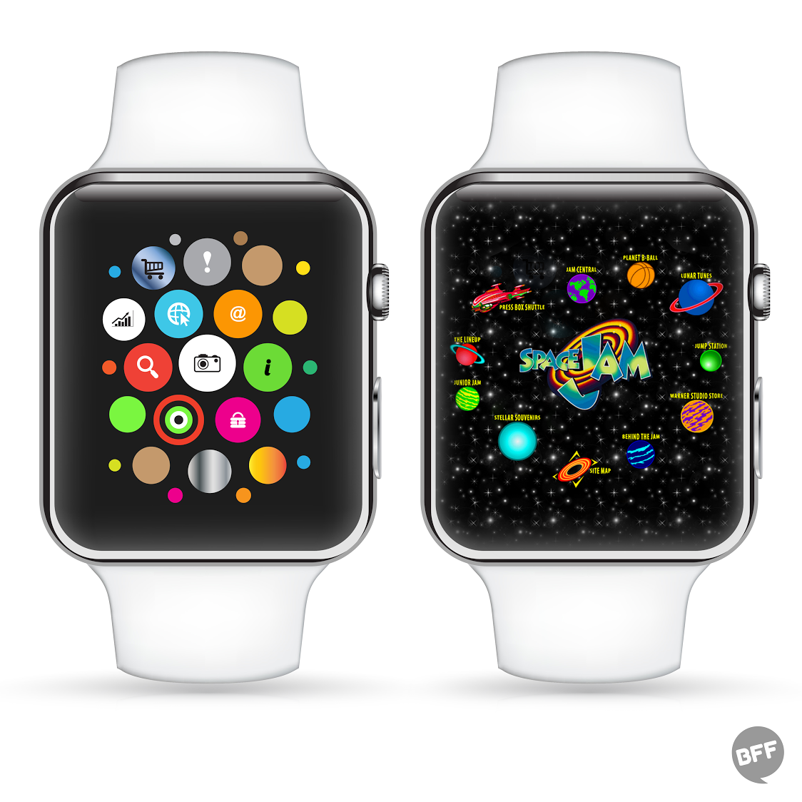 LOVE THIS RT @YrBFF: hmmm. the Apple Watch home screen looks... familiar. http://t.co/x1ZO1rCkTx