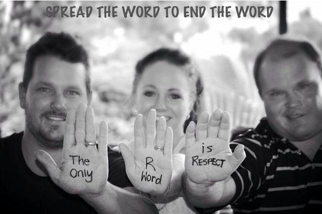My friend Ben Haack & his family want you to know the only #Rword they use is Respect! http://t.co/xIqp7ue1W1