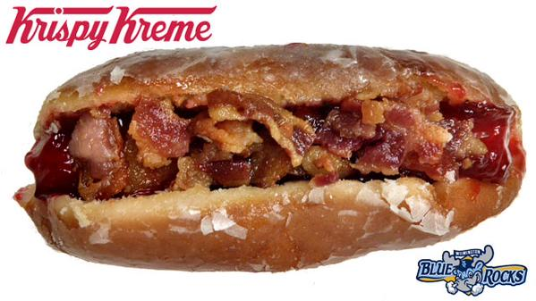 The Krispy Creme Hot Dog. I have no words for this, other than certain, imminent death. http://t.co/60xca4olgO http://t.co/yNppU7q5sF