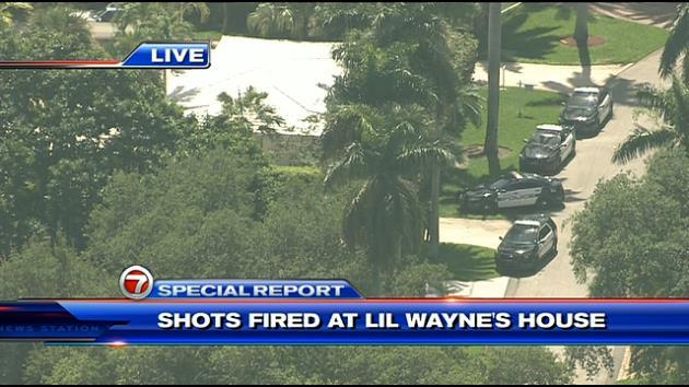 """@BuzzFeedNews: Report: Shots fired at Lil Wayne's Miami Beach home — @wsvn livestream http://t.co/K2pc3xxPLU http://t.co/YisLqo4lbj"" um"