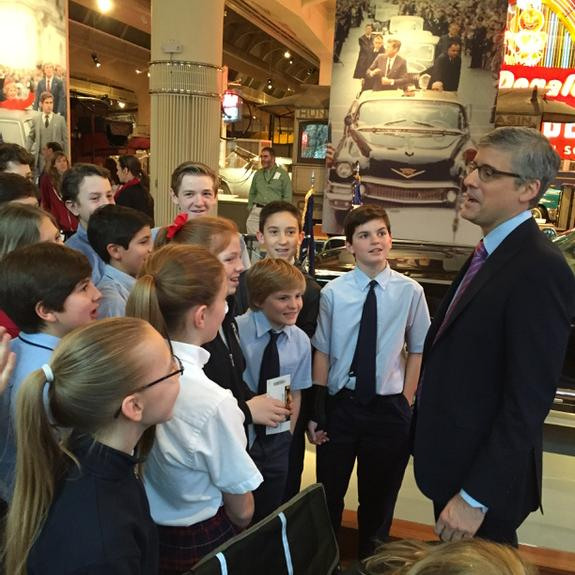 These kids watch the show IN CLASS! Love that! @thehenryford #InnovationNation w/@MoRocca @CBSInnovationTV Saturdays http://t.co/fJkhi2JleX