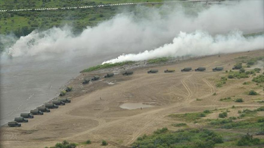 Esercitazioni militari a Stávropol in Russia