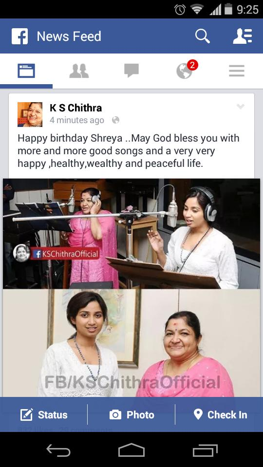 @shreyaghoshal see who is wishing you in fb. #HappyBirthdayShreyaGhoshal :) http://t.co/qehhiiUnTk