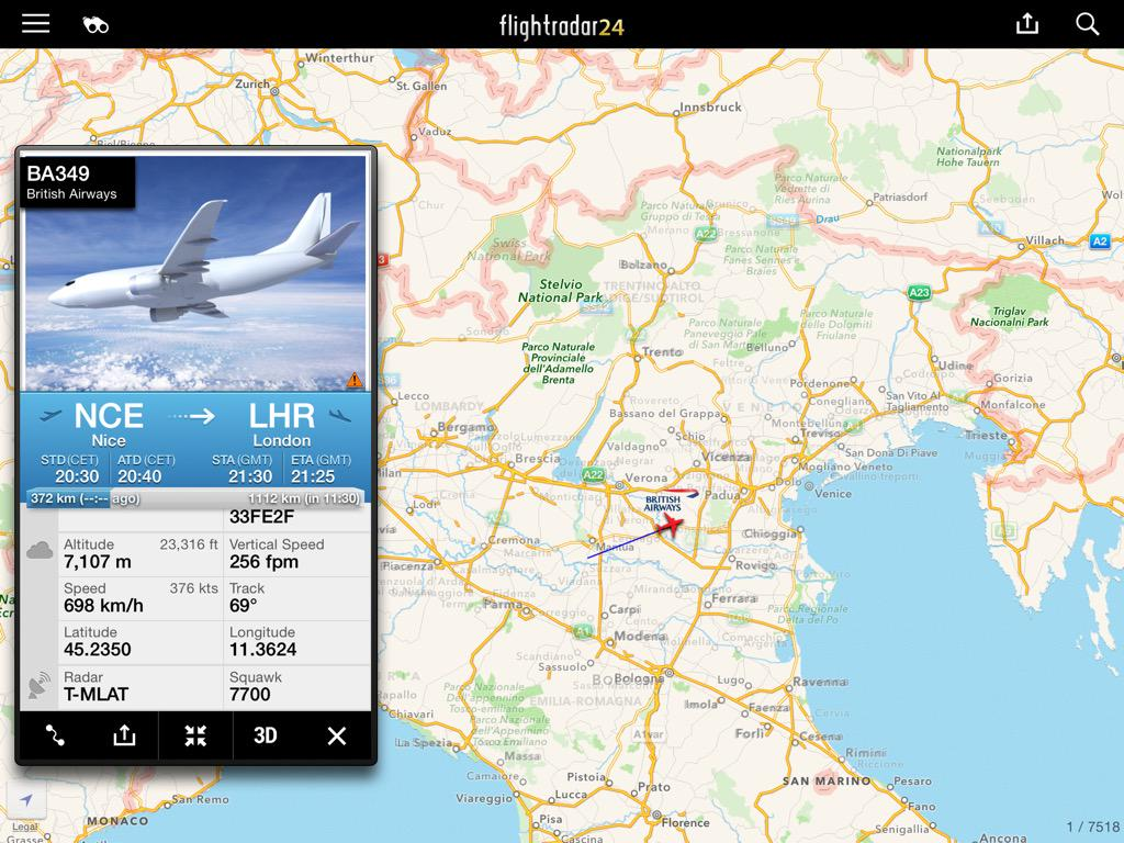 Flightradar24 on twitter laboulaye93250 an aircraft was using ba349 flightradar24 not on correct route and info showing wrong flight times picitteryjsjzlckyh gumiabroncs Images