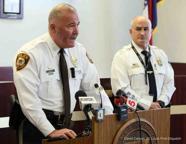 Story updated with details from Belmar's press conference: http://t.co/t33vbjHCHA #Ferguson http://t.co/fLSXt1G3Wg