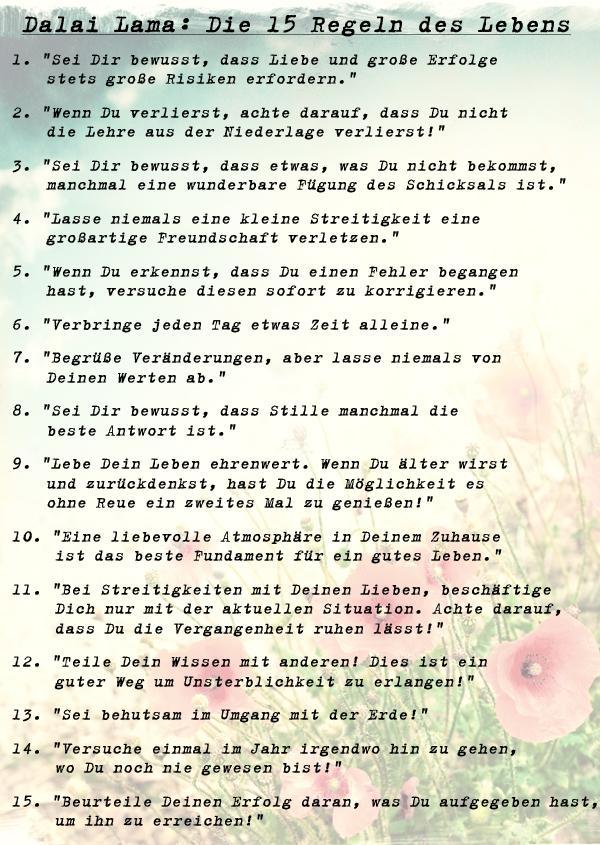 10 lebensregeln