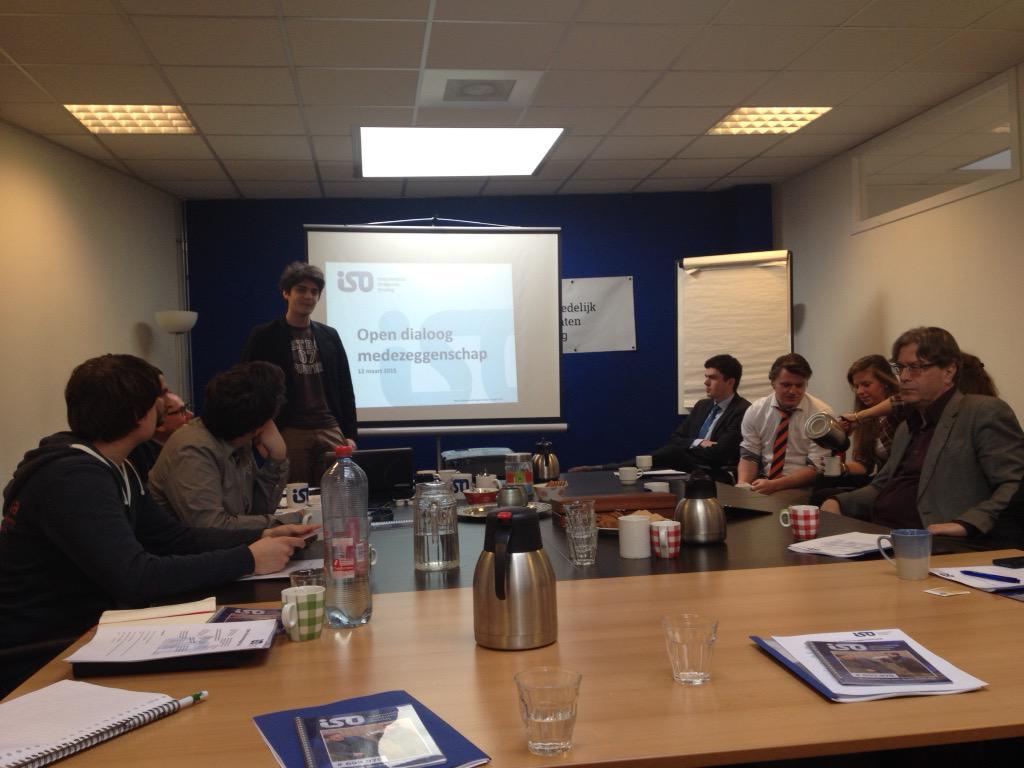 Nu een goede dialoog met @HetISO en bestuurders: top initiatief! http://t.co/1NFtukiLvG