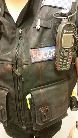 This is the aftermath of an assault on a police officer, on duty protecting the public. http://t.co/zqbCeBqEeb http://t.co/l1cM1JrMo3