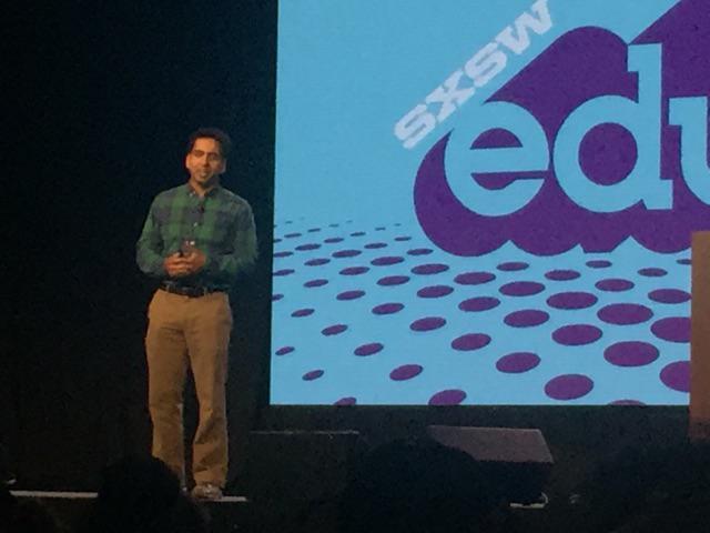 Now speaking: Sal Khan of @khanacademy. A true hero in education. #SXSWedu http://t.co/kdRduhBNaW