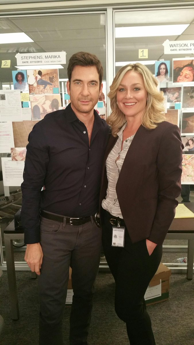 LOVE working w/ @DylanMcDermott - a true genius + amazing actor! #TBT to the last day of shooting @StalkerCBS http://t.co/xcSNgIDpKf
