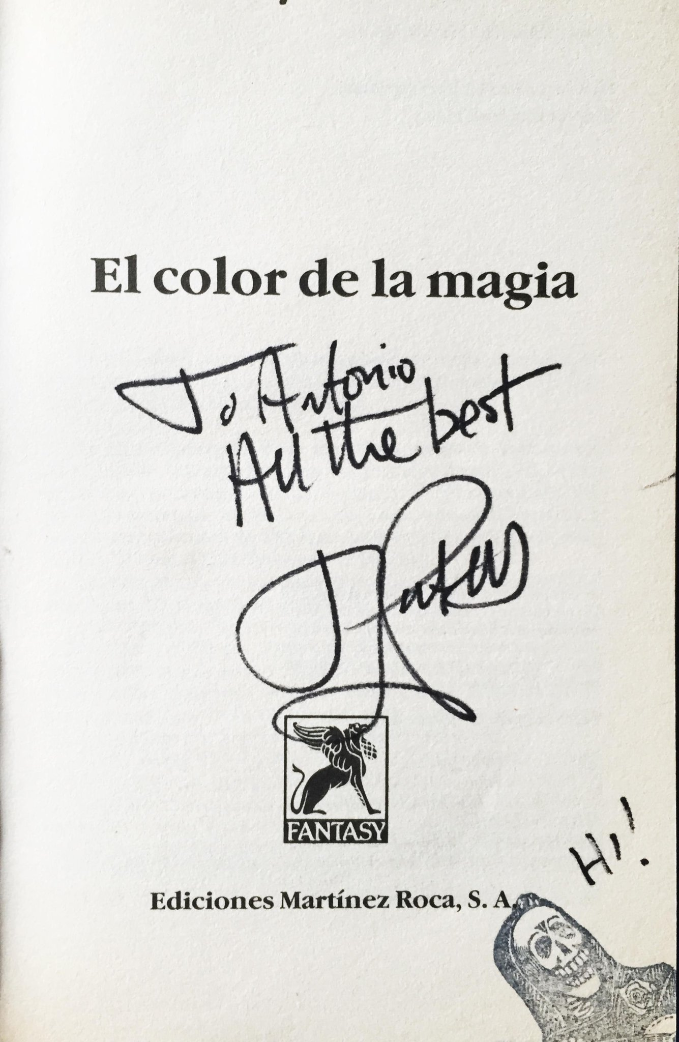 El Color de la Magia, dedicado