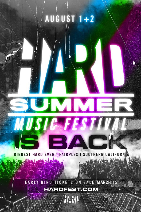 Woo! @HARDFEST is back! Get ready to grab your early bird tickets tomorrow at 12:00pm PST: http://t.co/wfseOBfqrE http://t.co/KCxyQhcNak