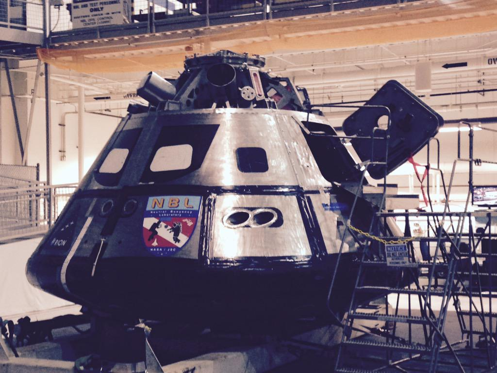 cool tour of @NASA_Johnson the capsule uses duct tape to keep it water tight; proof that duct tape can fix anything http://t.co/8a9qkExl9H