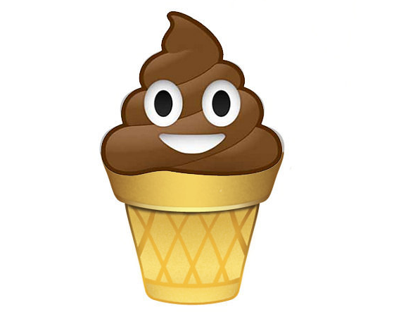 The Poop Emoji On An Ice Cream Cone Scoopnestcom
