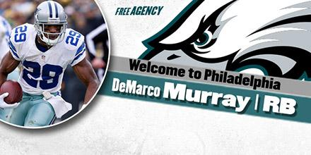 It's official Eagles, @DeMarcoMurray agree on 5-year deal. Chip Kelly, Murray speaking now on http://t.co/GVGbsPCHja http://t.co/6pHExDrrev